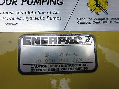 P-462 P464 ENERPAC Hydraulic NEW! ON SHELF COLLECTED DUST NEVER USED NEED HANDLE
