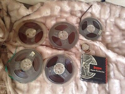 Lot Assorted Reel To Reel Tapes Scotch Philips Emitape