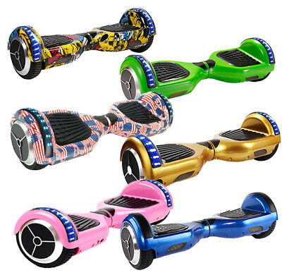 Hoverboard 6.5'' Luci Led Bluetooth Monopattino Elettrico Scooter