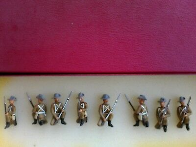 8x 54mm metal 3rd Buffs kneeling Boar War 1902