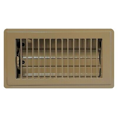 Brown Clic Stamped Steel Floor Registers Economical Vents 11 Sizes