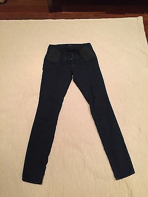 Mama J Brand Jeans Maternity, Size 24, Dark Blue Color, Olympia