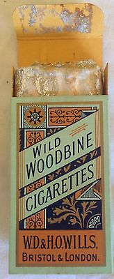 vintage collectable  wills wild woodbines  10 cigarette  packet + contents