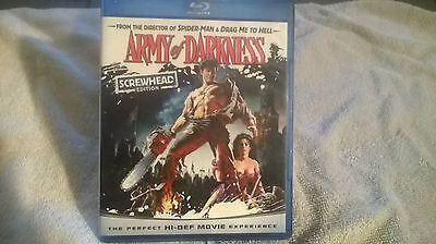 Army of Darkness Blu-ray Screwhead Edition; 2009 Like New