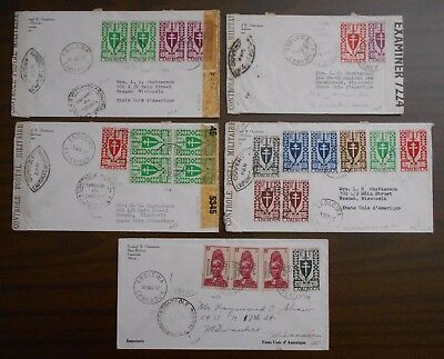Cameroon 1940 s official correspondence to USA rare franking R!