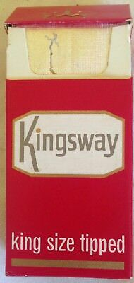 vintage  collectable wills Kingsway  10 cigarette  packet + contents
