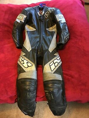IXS one piece leather suit. Youths size 40