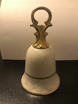 """Lenox China Bell Cream With Gold Trim 6.5 """" Tall"""