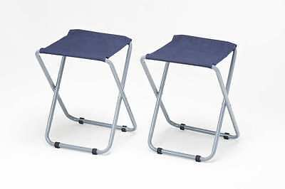 NEW  2 x Folding Canvas Seat Camping Stools, Fishing, Caravan, Festival, Picnic
