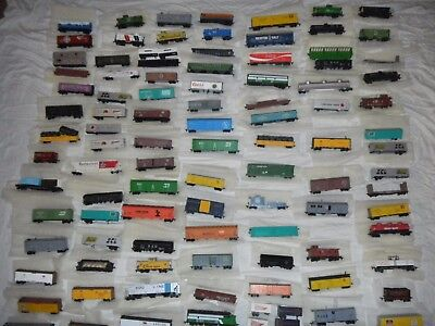 Vintage HO Scale Freight Cargo Trailers Hoppers Cabooses Tankers  LOT OF 100