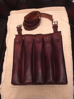 WWII Chinese Nationalist KMT Leather Ammo Chest Rig for MP-18, MP-28, Thompson