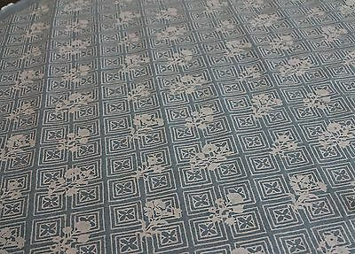 """2 Yards of Beautiful Fortuny """"Jupon Bouquet"""" in Azure Blue and Warm White"""
