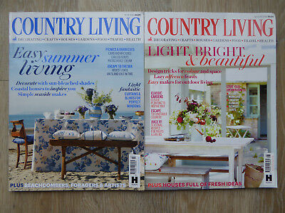 Country Living Magazines x2 - August & July 2016