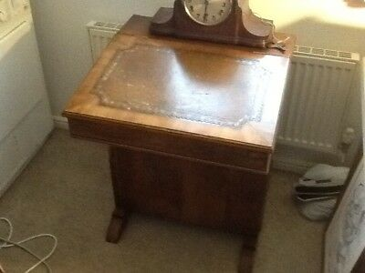 Victorian / Edwardian Yew Davenport Writing Desk with inset writing slope