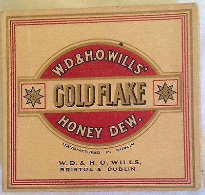 vintage collectable  wills gold flake honey dew 20 cigarette  packet + contents