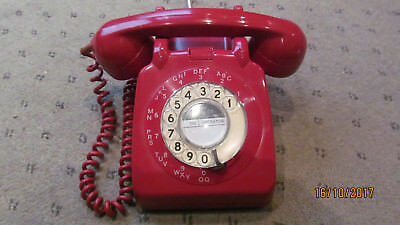 ORIGINAL VINTAGE GPO Red 706 Rotary Telephone[LOVELY PHONE]