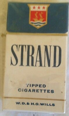 vintage  collectable wills strand 10 cigarette  packet + contents