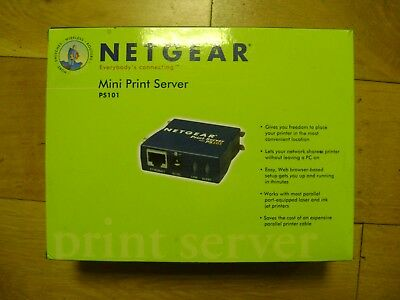 NETGEAR PS101 Mini Print Server for Parallel Printers