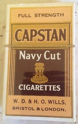 vintage collectable  wills capstan navy cut 10 cigarette  packet + contents