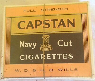 vintage collectable wills capstan navy cut   20 cigarette  packet + contents