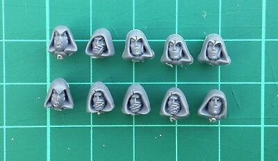 Warhammer AOS Wanderers Glade Guard Heads Hooded x 10 Wood Elves Lot D4