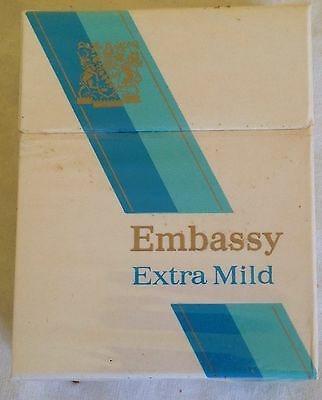 vintage  collectable wills embassy extra mild   20 cigarette  packet + contents