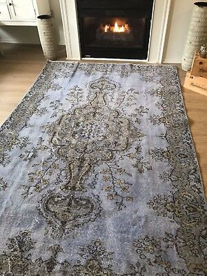 "VINTAGE,RARE WOOL TURKISH HAND-MADE RUG, 8'11""x 5'7"" FREE SHIPPING!!!"