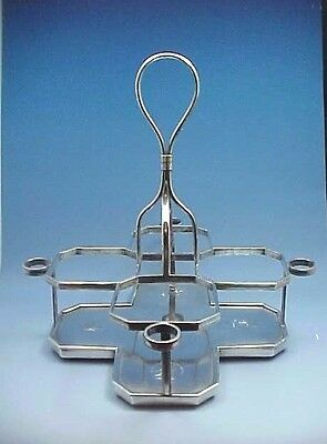 1802 STERLING SILVER DECANTER CADDY McHATTIE & FENWICK EDINBURGH ARMORIAL CREST