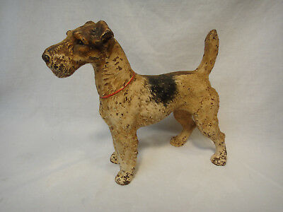 Original  Hubley Fox Terrier Cast Iron Door Stop
