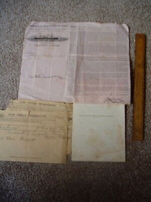 Cambridge Phil Soc  & Shipping Documents 1899 West African Fish