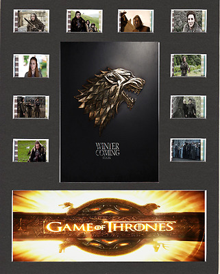 Game Of Thrones Film Cell Presentation 10 x 8 Mounted House Stark
