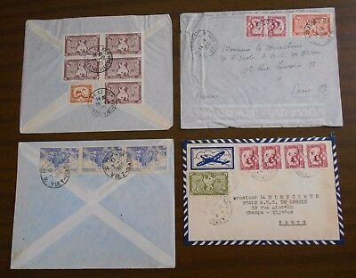Vietnam 1950-55 official correspondence Indochina special covers to France