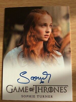 2012 Game Of Thrones Ltd Ed Autograph Card Sophie Turner Season 2