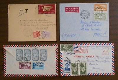 Vietnam 1950-55 official covers to France,correspondence from Indochina