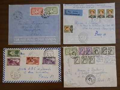 Vietnam 1950-55 official covers,correspondence from Indochina to France