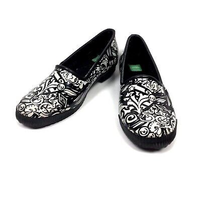 Cougar Rain Shoes Womens 7 Slip On Black White Rubber Waterproof Ruby Magestic