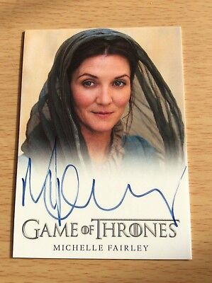 2012 Game Of Thrones Ltd Ed Autograph Card Michelle Fairley Season 2