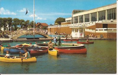 Postcard Boating Pool/lake & Aquarena Worthing (Children In Boats)