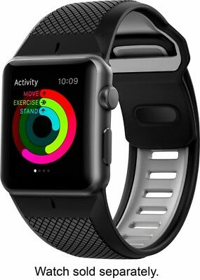 Nomad - Sport Watch Strap for Apple Watch™ 42mm - Slate gray on black