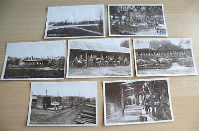 7 vintage B/W POSTCARDS - CANADIAN FORESTRY CAMP, EGHAM, Surrey, Womens Legion