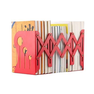 Bookends Metal Iron Adjustable Books Holder Stand Desk Heavy Duty Nonskid Large
