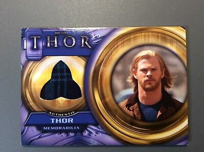 2011 Marvel Upper Deck THOR Movie Costume Card F13 Thor