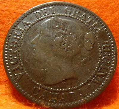 1859  CANADA LARGE CENT Victoria COIN NoRes CANADIAN