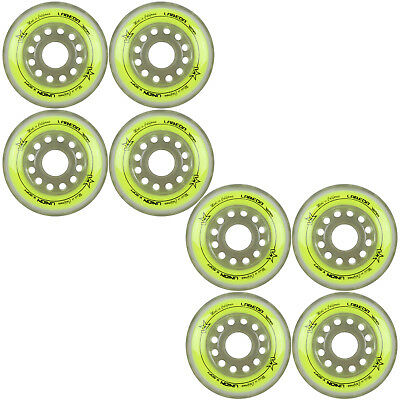 Labeda Inline Roller Hockey Skate Wheels Union Yellow 72mm SET OF 8