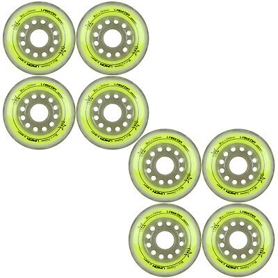 Labeda Inline Roller Hockey Skate Wheels Union Yellow 80mm SET OF 8