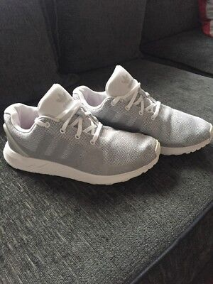 Adidas White And Grey Boys Junior Size 5 Trainers