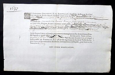 1669 - Received from the King's Counselor, Guard of the Royal Treasury- Genuine