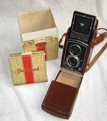 Rolleicord 111, 75mm f3.5 Xenar with case and box