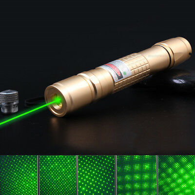 New Green 1mW 532NM Powerful Laser Pointer Pen Light Visible Beam Zoom Burning