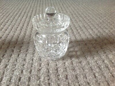 Crystal Cut Glass Small Jam Or Preserve Pot
